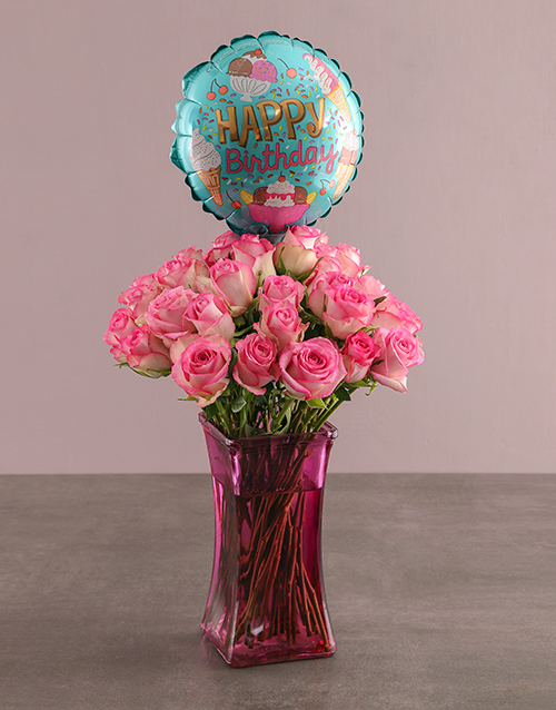 balloon: Have A Rosy Birthday Gift!
