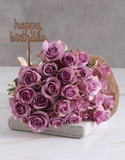 roses: Happy Birthday Lilac Rose Blooms!