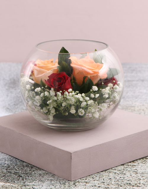 roses: Exquisite Roses in Beautiful Bowl!