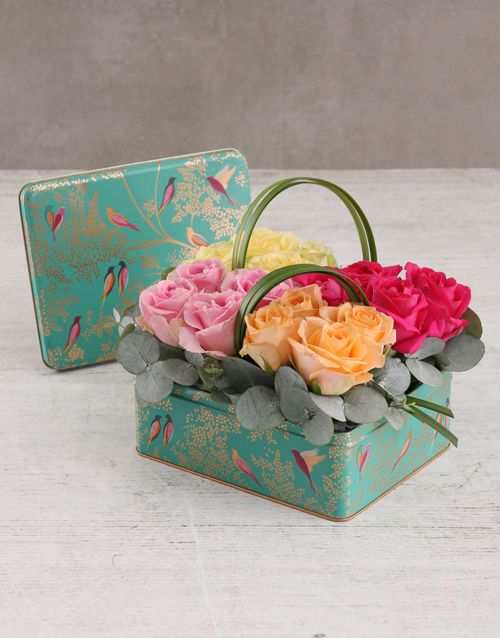 roses: Colourful Roses in Floral Box!