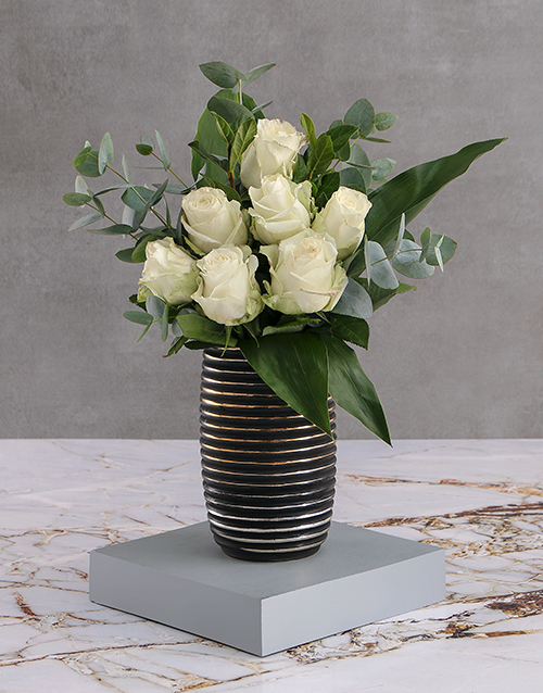 get-well: White Rose Blossoms!