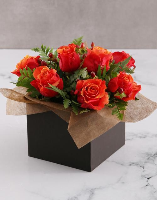 roses: Cherry Brandy Roses in Black Box!