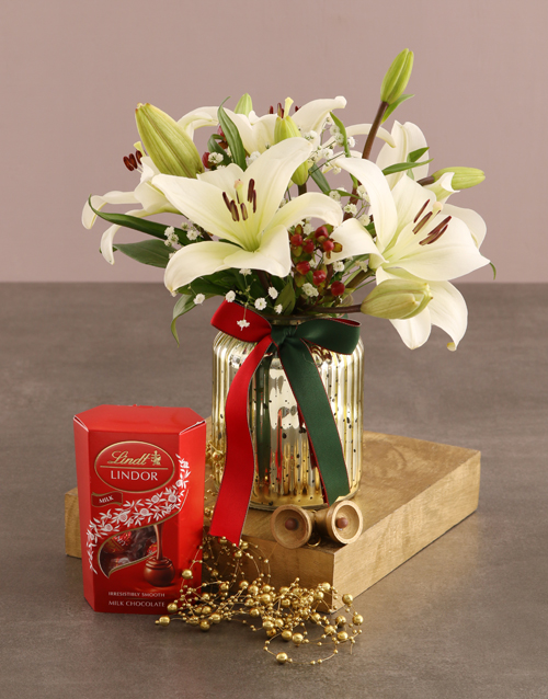 flowers: Lilies and Lindt Surprise!