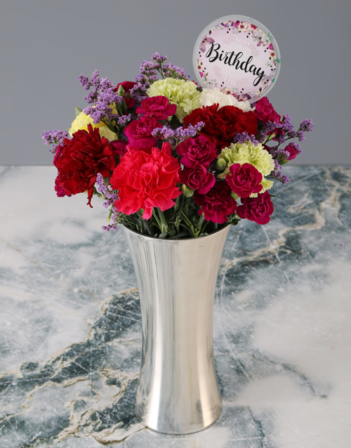 carnation: Mixed Carnations Birthday Bouquet!