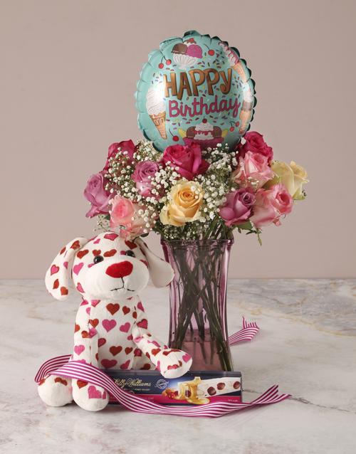 colour: Puppy Love Happy Birthday Arrangement!