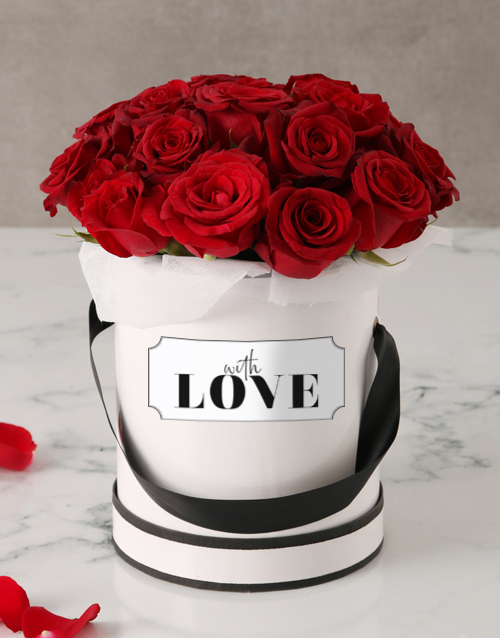 whats-new: Red Roses in Love Hat Box!