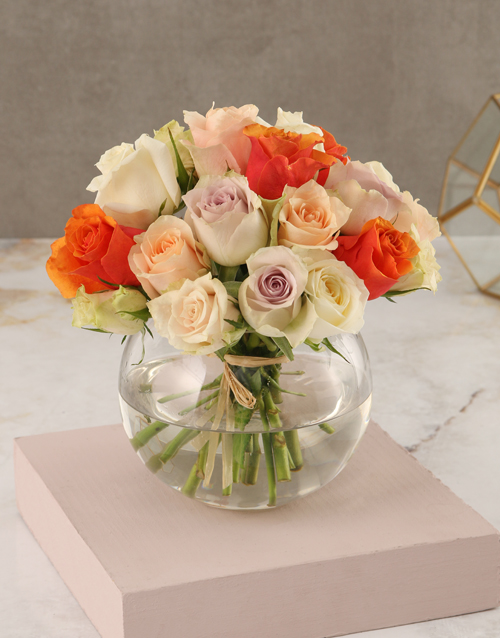 whats-new: Mixed Pastel Rose Arrangement!