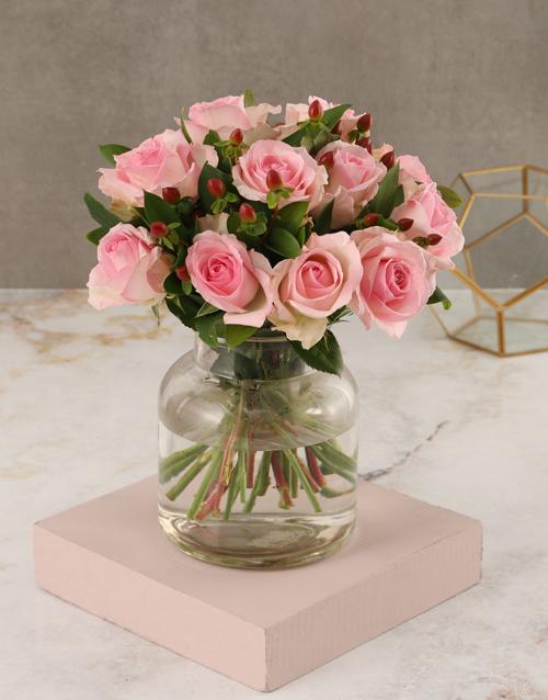 whats-new: Pink Rose Vase Arrangement!