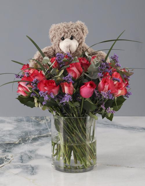 roses: Plush Cerise Rose Arrangement!