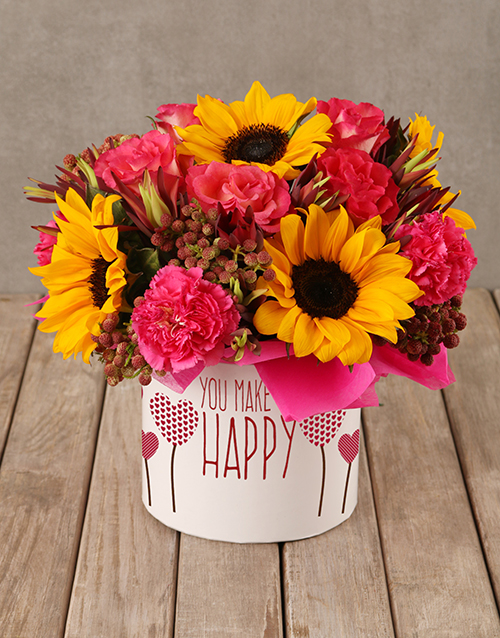 sunflowers: Happiness In A Sunflower Box!