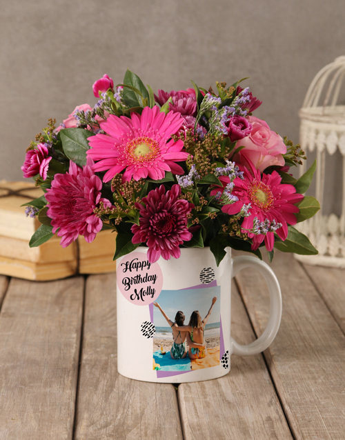whats-new: Personalised Birthday Flowers in a Mug!