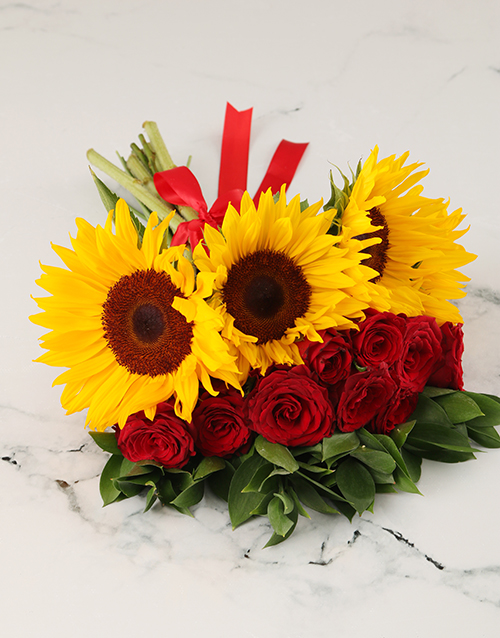 whats-new: Charming Mixed Sunflower Bouquet!