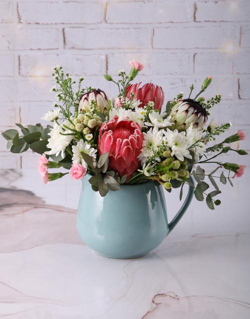 proteas: Prim and Proper Mixed Protea Bouquet!