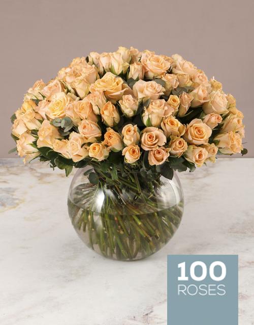 love-and-romance: Lavish Peach Rose Arrangement!