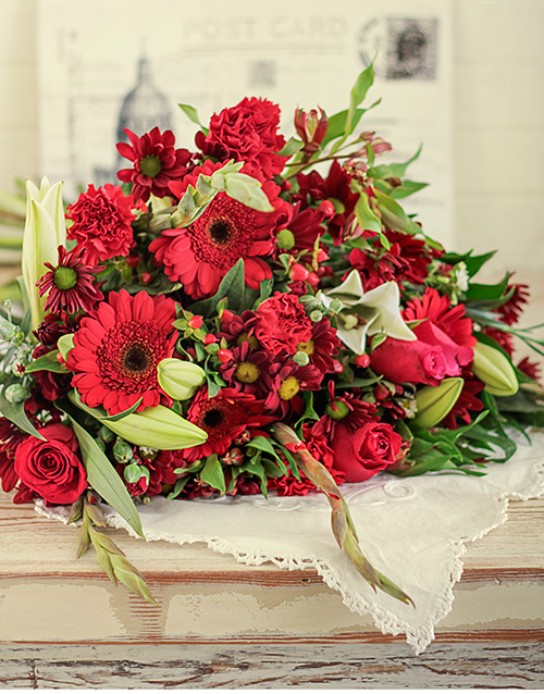 flowers: Red Flower Bouquet!