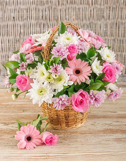 best-sellers: Mixed Pink Basket Display!