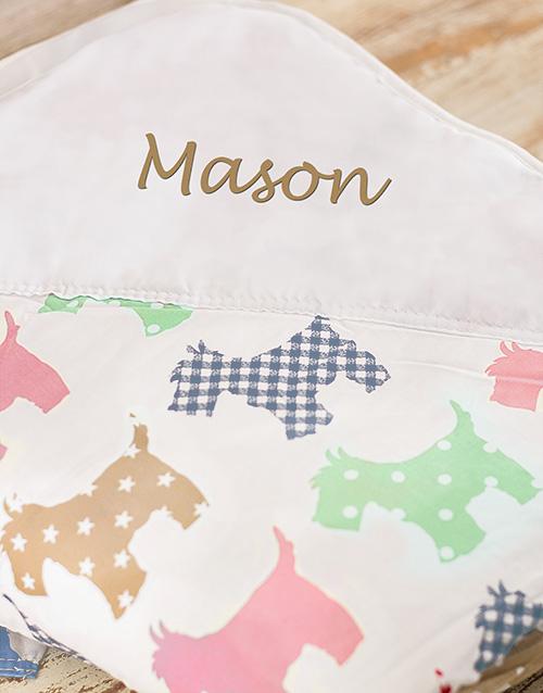 personalised: Personalised Puppy Print Picnic Blanket!