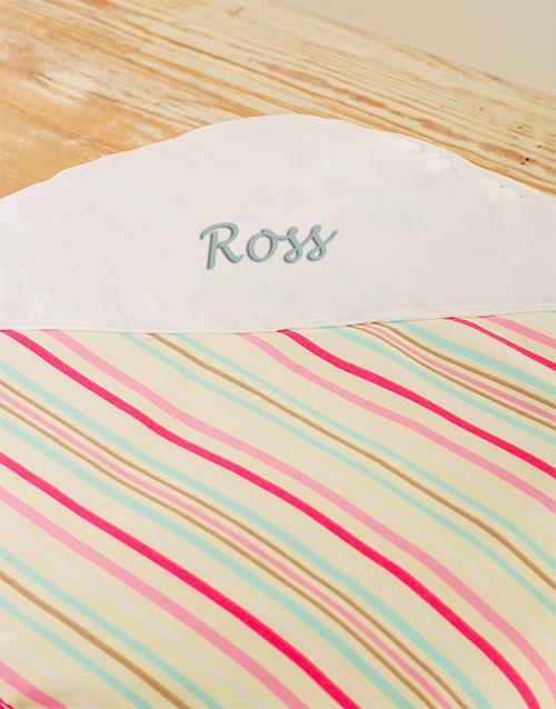 personalised: Striped Baby Personalised Blanket!