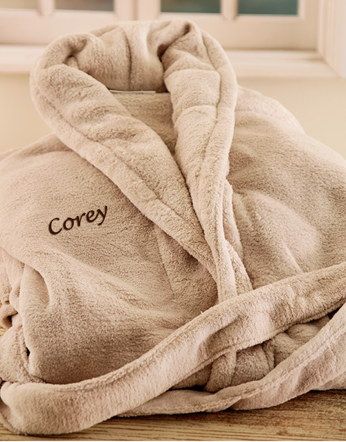 bath-and-body: Personalised Stone Fleece Gown!