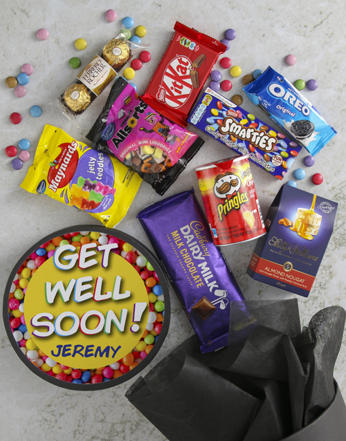 get-well: Personalised Get Well Sweet Hat Box!