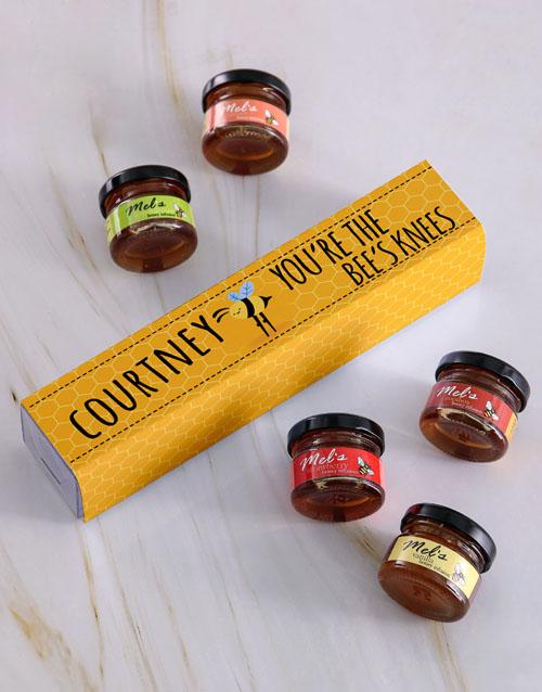 secretarys-day: Personalised Bees Knees Honey Jars Set!