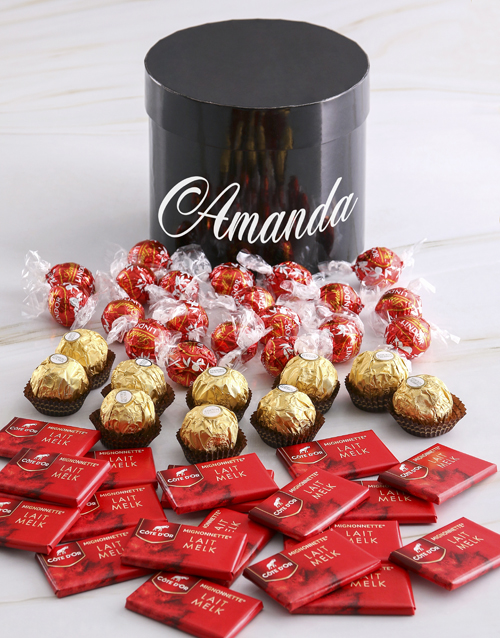 bosses-day: Personalised Assorted Mixed Chocs Hat Box!