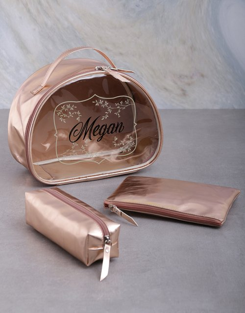 bath-and-body: Personalised Rose Gold Vanity Bath And Body Set!