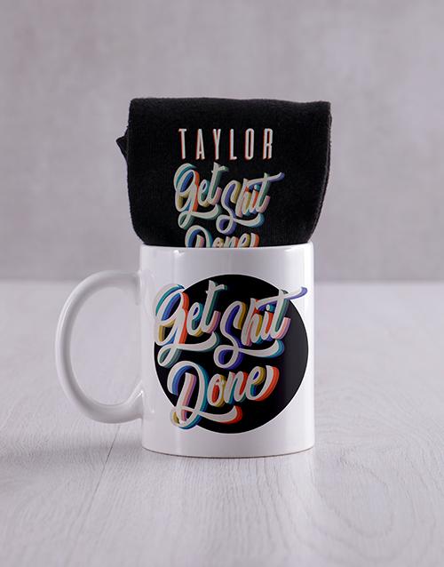 apparel: Personalised Get It Done Socks & Mug!