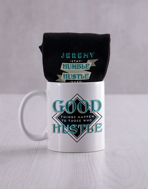 fathers-day: Personalised Hustle Socks And Mug!
