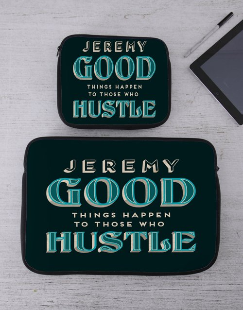 new-years: Personalised Hustle Tech Device Sleeve!