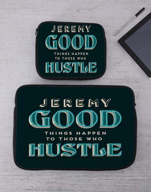 apparel: Personalised Hustle Tech Device Sleeve!