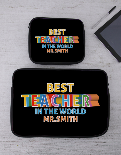 apparel: Personalised Teacher Tech Device Sleeve!