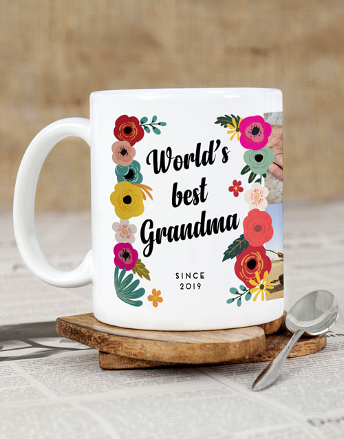 mothers-day: Personalised Best Floral Mug!