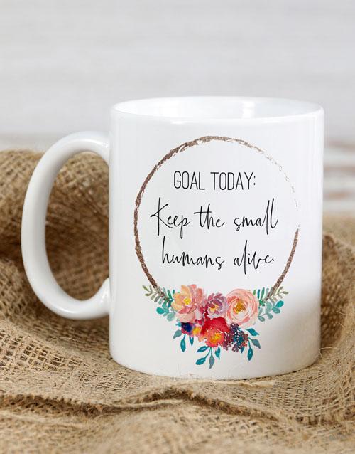 homeware: Personalised Goal Today Mug!