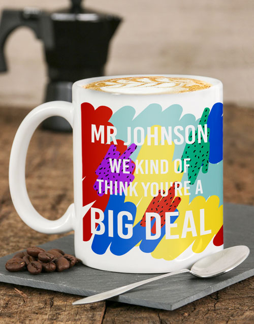 homeware: Personalised Big Deal Mug!