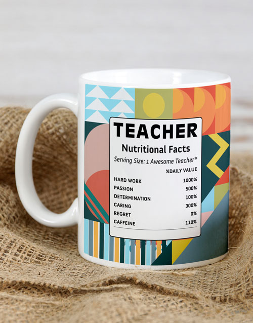 prices: Personalised Teacher Facts Mug!