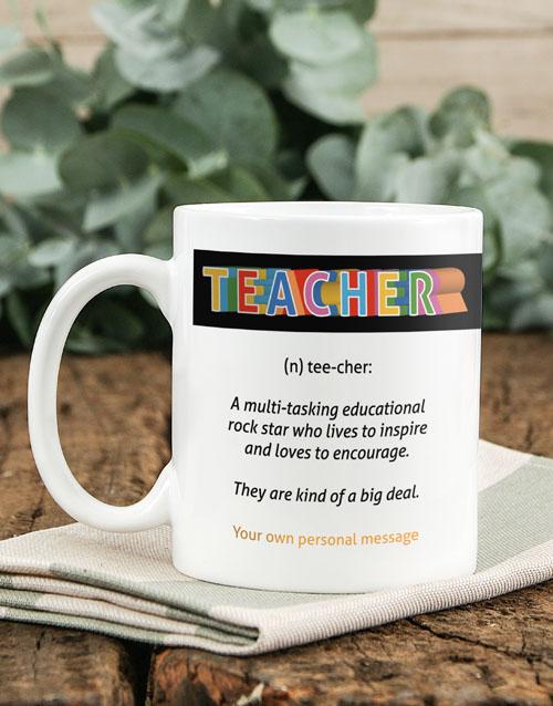 homeware: Personalised Teacher Definition Mug!
