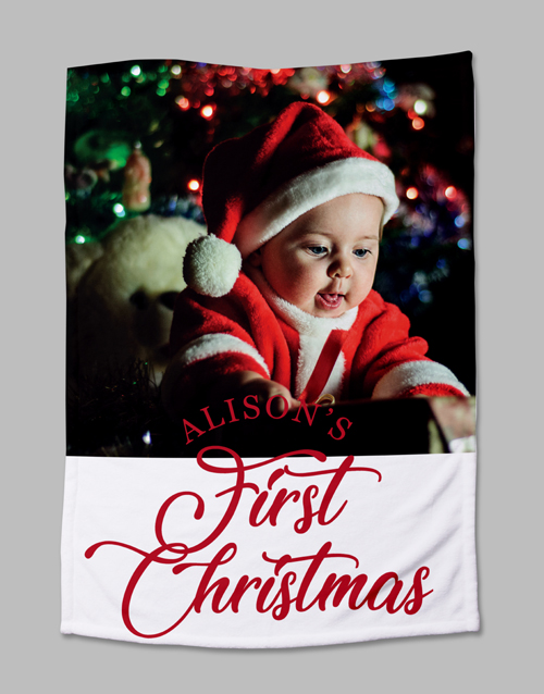 baby: Personalised First Christmas Photo Blanket!