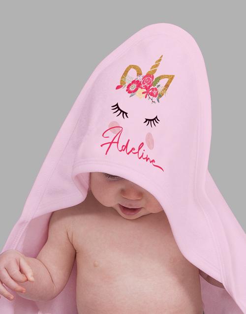 personalised: Personalised Unicorn Baby Gift Hamper!