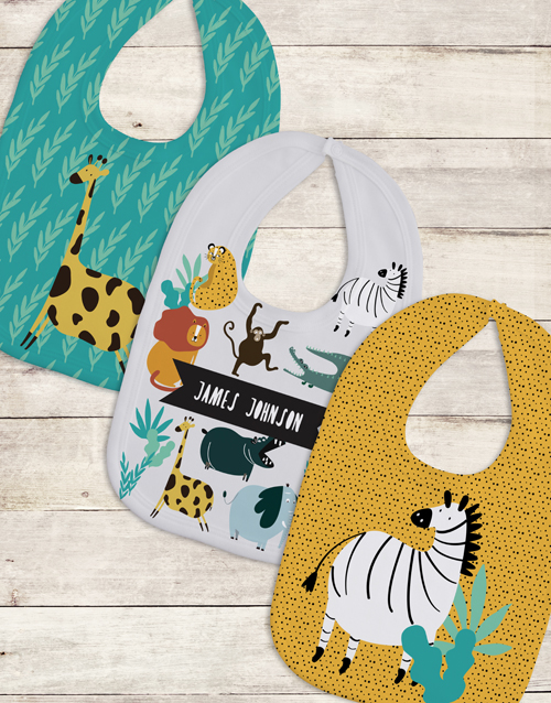 gifts: Personalised Set of Wild One Bibs!