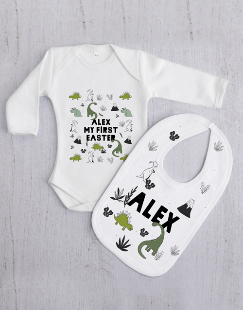 baby: Personalised Dino Gift Set!