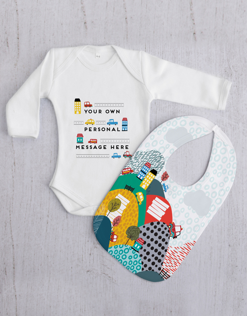 baby: Personalised Car Baby Gift Set!