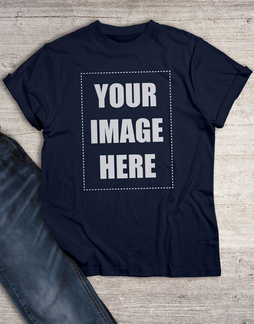 personalised: Personalised Own Image Navy T Shirt!