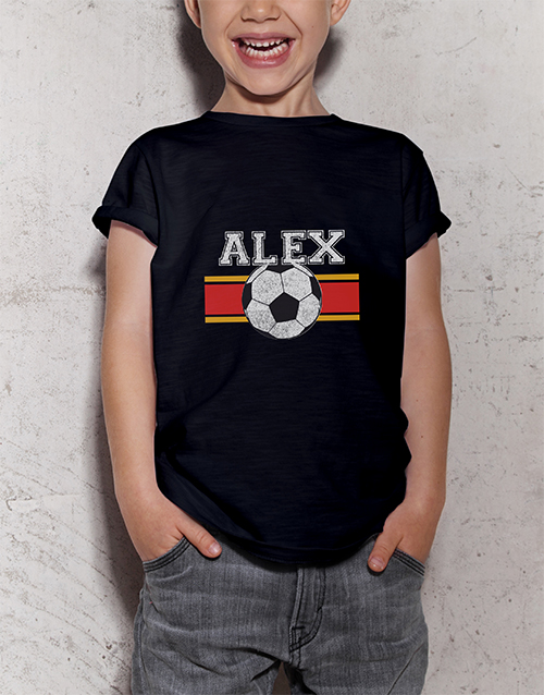 personalised: Personalised Soccer Star Kids T Shirt!
