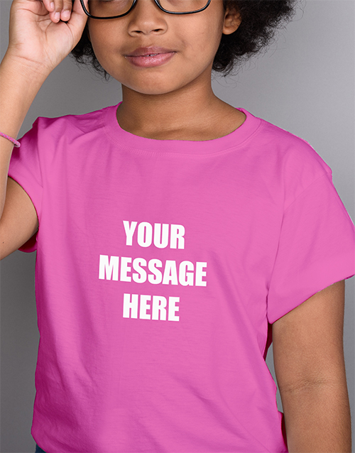 clothing: Personalised Kids Pink T Shirt!