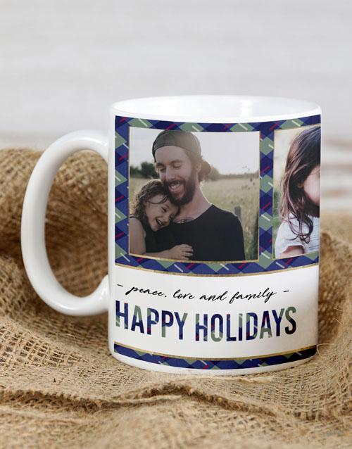 homeware: Personalised Happy Holidays Christmas Mug!