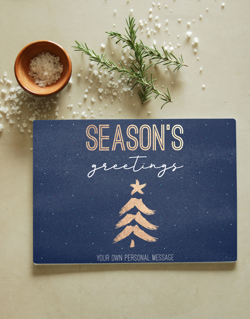 christmas: Personalised Season Glass Chopping Board!