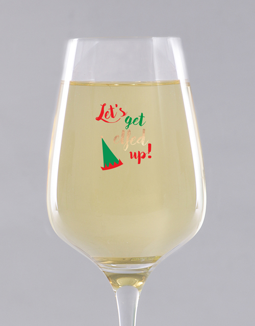 christmas: Personalised Elfed Up Wine Glass !