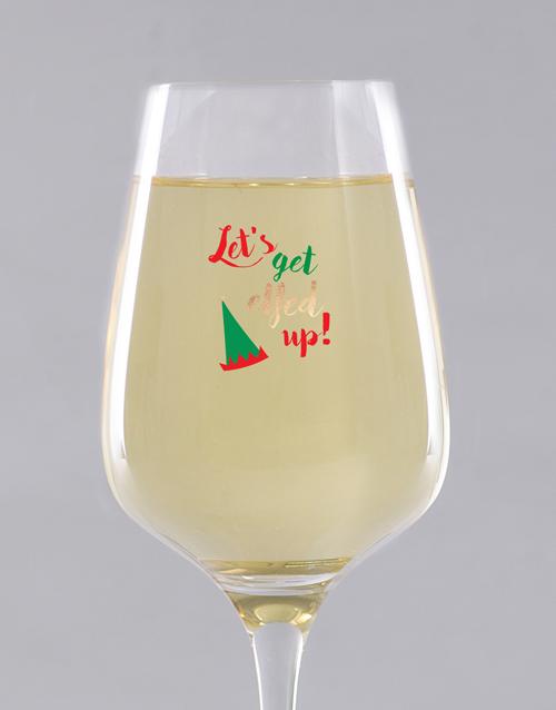 christmas: Personalised Elfed Up Wine Glass !