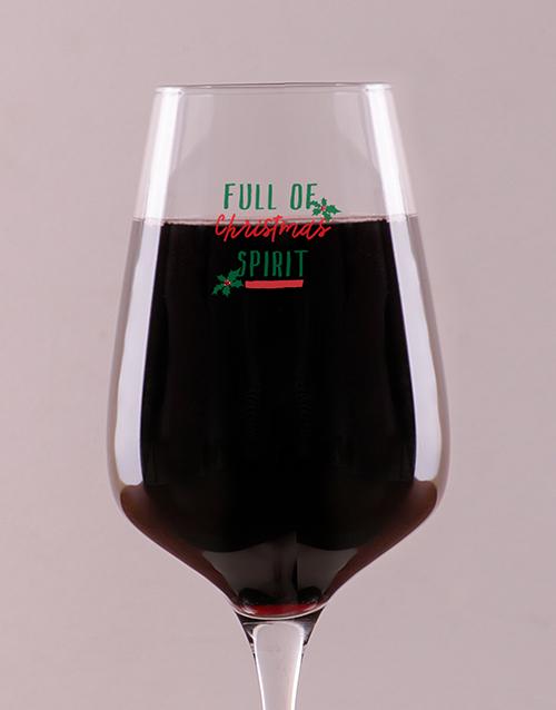 christmas: Personalised Christmas Spirit Wine Glass!